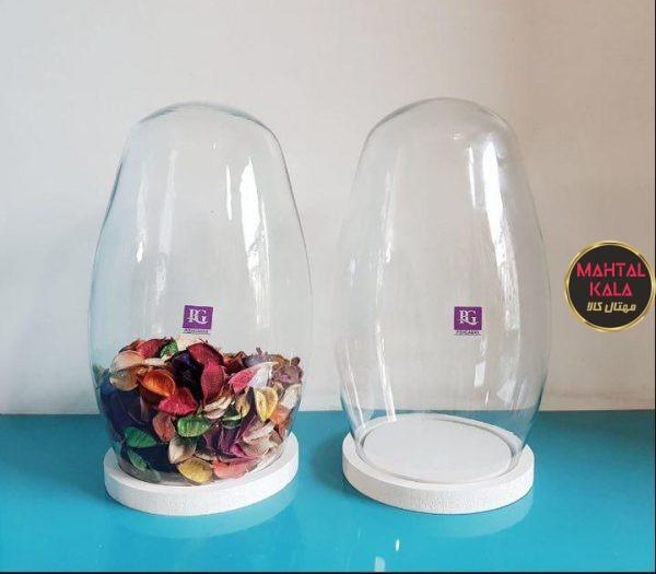 گلدان شیشه ای حبابی