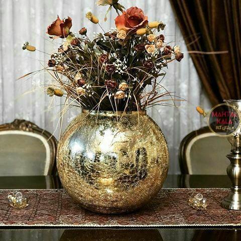 گلدان نقره ای